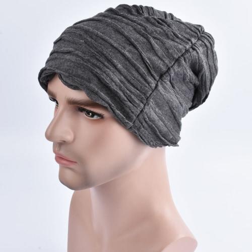 Forme a mujeres de los hombres el sombrero de la gorrita tejida de la colmena de la arruga casquillo caliente del invierno Hippop unisex Turbo Headwear de Slouchy