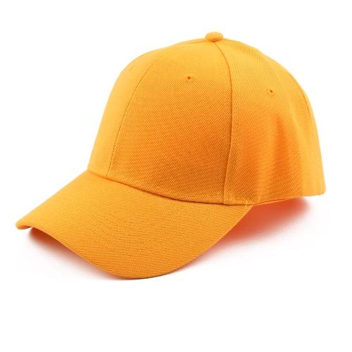 Unisex Hombres Hombres Gorra de béisbol Color sólido Hip Hop Casual Deporte Sun Casquette Headwear Sombreros