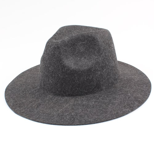 Cappello pieghevole del cappello della spiaggia di Sun del cappello del feltro della lana delle donne degli uomini unisex dell'annata del Sombreros Fedora Trilby cappello