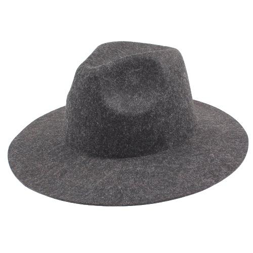 Vintage Unisex Mujer Hombres Sombrero de fieltro de lana Sombrero de sombrero plegable de sombrero Sombreros Fedora Trilby
