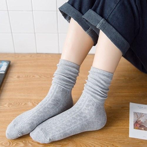 1 Paar Herbst und Winter Lange Tube Pile Socken