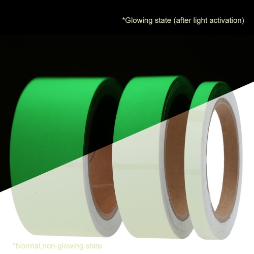 Luminous Photoluminescent Tape Green Glow in the Dark Sticker Film for Warning Labels 1cm*5m