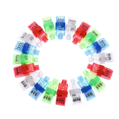 2016 LED populaire Finger lumières laser clignotant anneau faisceau de lumière colorée Lampe torche Lampes Glow Concert Decorative Party Jouets Props enfants Fournitures 20/40 / 100pcs