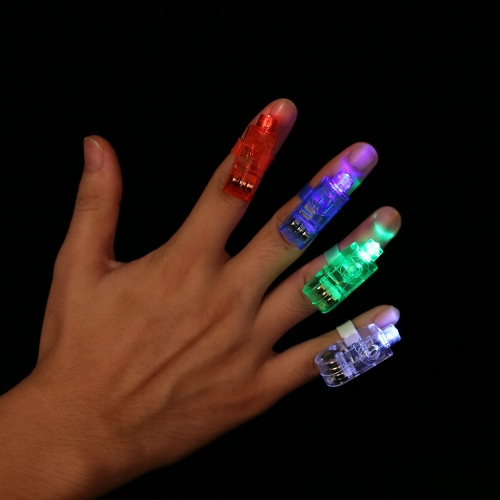 Image de 2016 LED populaire Finger lumières laser clignotant anneau faisceau de lumière colorée Lampe torche Lampes Glow Concert Decorative Party Jouets Props enfants Fournitures 20/40 / 100pcs