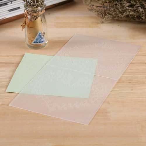 Plastic Embossing Folder for Scrapbook DIY Album Paper Card Tool Template 15.5x15.5cm / 6x6inch