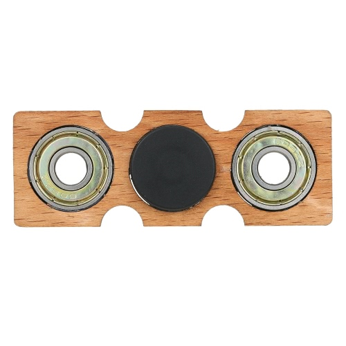 Fidget main Finger Spinner Spin Widget focus Toy EDC Pocket Desktoy Rectangle cadeau en bois pour le TDAH Enfants Adultes
