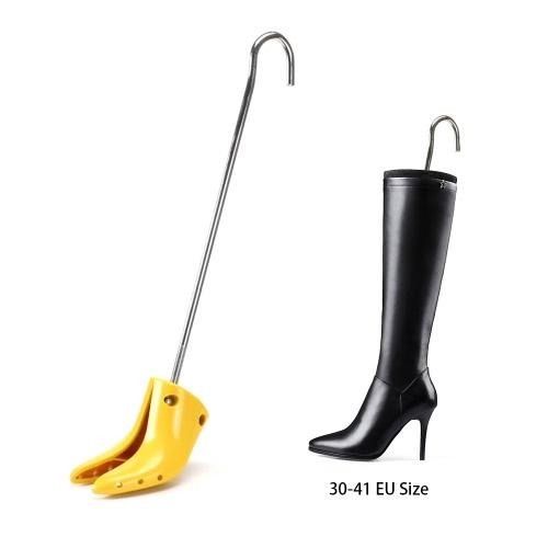 Профессиональные Adjutable 2-полосные Женщины Высокий каблук ботинка Носилки Чистка дерева Обувь формообработки Длинные сапоги Растяжение Инструмент 30-41 EU Размер
