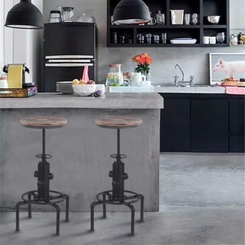 IKayaa Bar Sedia altezza regolabile in legno Pinnacolo regolabile in alto per la cucina