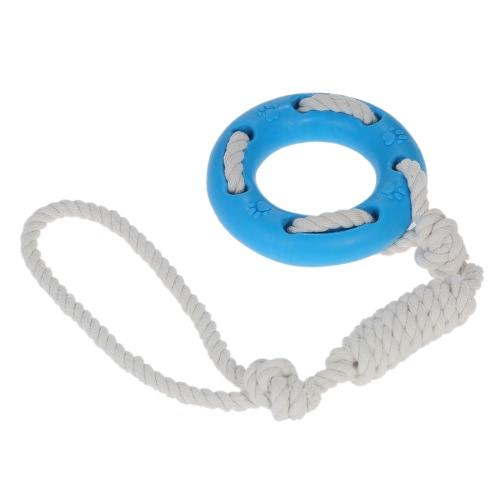 2шт Chew Toy Rubber Tire с веревкой Маленькая вытачка и буксирная веревка Интерактивная собака для собак собак IQ Собака Зубная чистка Чистая игрушка Нетоксичная безопасная Развлекательная игрушка для собак Кошки фото