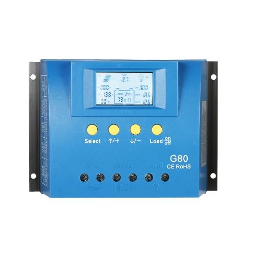 30A 12V / 24V Auto LCD Солнечная зарядка Контроллер нагрузки Аккумулятор Регулятор Dual USB 5V Выход Защита от перегрузки