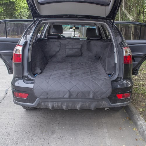 Decdeal Non-slip Waterproof Dog Cargo Liner Safety Hammock Pet Car Back Seat Cover Protector Mat for Trunk SUV Pet Supply