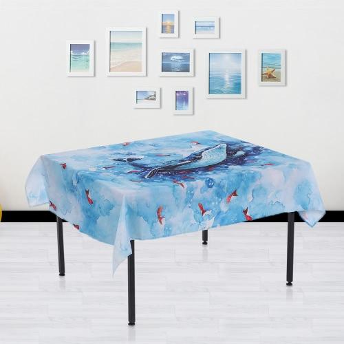 84 * 60 '' Прямоугольный обеденный стол Ткань Полиэстер Печатный журнальный столик Обложка Скатерти Главная Decoartion