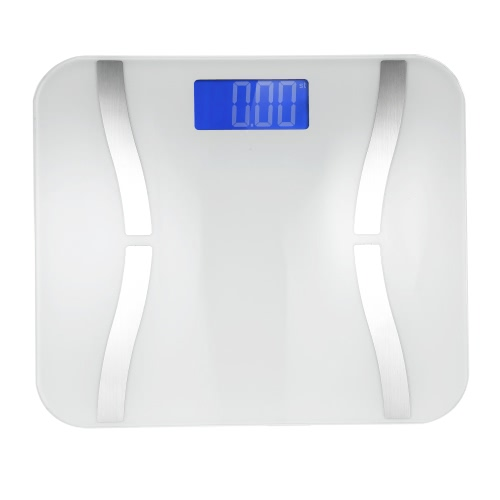 Accurate Fat Scale Multifunctional Body Weight Scales Mini Body Fat Scale with Large LCD Display Bluetooth Smart Electronic Scale for iOS and Android System for Smart Phone
