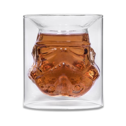 Dowódca Cool Borosilicate Transparent Glass Cup odporny na rozbicie na biuro Home Party and Travel Coffee Tea Use