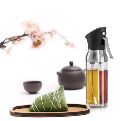 Oil Sprayer and Vinegar Sprayer 2-in-1 Good Quality Olive Oil Sprayer Barbecue Marinade Spray Bottle Fine Mist Vinegar Sprayer Dispenser for BBQ Good Seasoning Tools