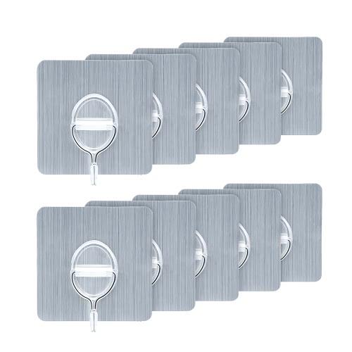 Ganchos removibles reutilizables de la pared de 4pcs 11lb / 5kg (máximo) ninguÌ n gancho de la toalla del rasguño impermeable y estante colgante de la cocina del cuarto de baño de Oilproof