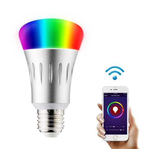 Wi-Fi Smart LED Light Bulb E27 Multicolored Colors Changing Dimmable Night Light Wireless Smartphone Remote Control