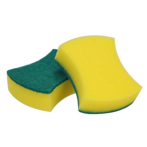 Esonmus 20шт Многоцелевая двухсторонняя губка для чистки губ Скраб для губ Скраб для губки Удаление чистящей щетки для кухонной гаражной ванной