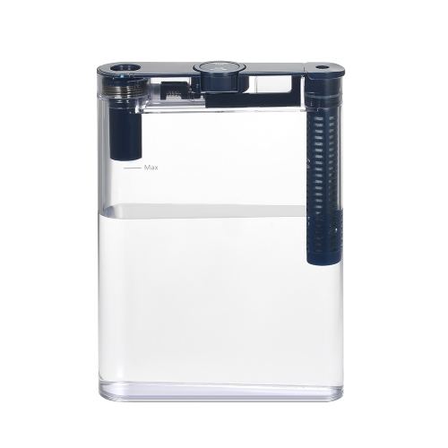 Transparent Water Bottle with 1 Carbon Filter Portable Filter Flat Bottle Handy Water Purifier with Filter Element
