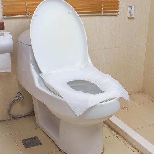 10 Pcs / Pack Voyage Étanche Jetable Toilette Housse De Siège Anti-bactérien Toilette Papier Pad Voyage Camping Salle De Bains Accessiories Sanitaire Outil