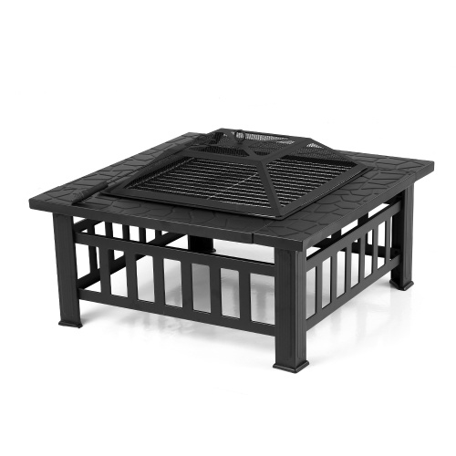 Brasero barbecue carré pour jardin et terrasse - IKAYAA