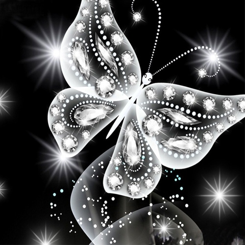 10 * 10 pouces / 25 * 25 cm bricolage 5D diamant peinture kit papillon résine strass mosaïque broderie point de croix artisanat maison mur décor
