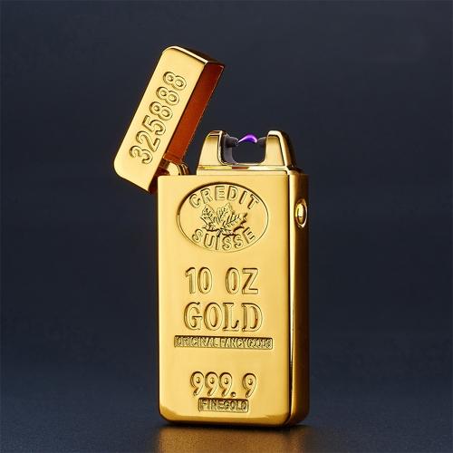 USB перезаряжаемый электронный Hit Fire Machine ветрозащитный беспламенный металлический зажигалка для сигарет