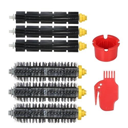 Комплект из 8 комплектов для замены для iRobot Roomba 600 и 700 Series 690 691 694 650 651 664 615 601 630 700 760 770 780 790 Пылесос - Щетка щетки + Гибкая щетка + Инструмент для очистки