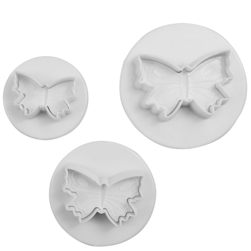 3PCS DIY Cake Butterfly Model Fondant Cakes Biscuit Baking Mold Decorating Cookie Plunger Cutter Moulding Tool