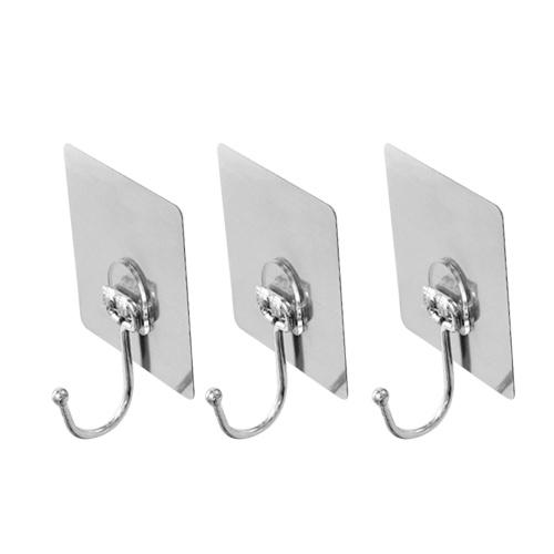 3шт Бесшовные сильные клеящие многоразовые настенные крюки Сверхмощные наклейки для подвесной кухни