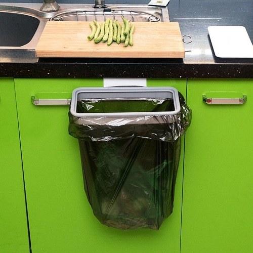 1 stücke Hängenden Müllsack Halter Tür Küchenschrank Müll Veranstalter