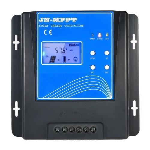 10A MPPT Controlador de Carga Solar 12 V / 24 V / 48 V de Identificação Automática de Carregamento Da Bateria Regulador com Display LCD Sobre A Proteção da Carga de Detecção de Temperatura Interna
