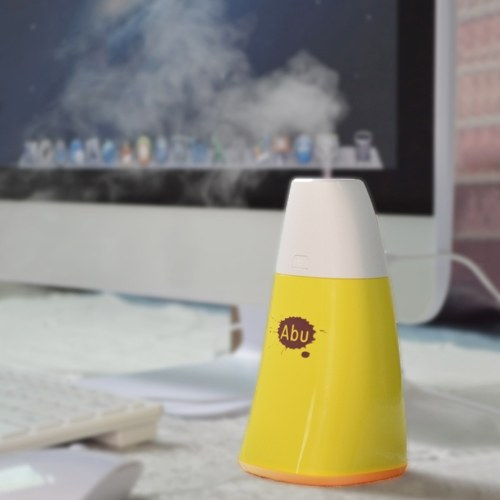 250ml USB tragbare Aromatherapie ätherisches Öl Diffusor Mini Ultraschall kühlen Nebel Luftbefeuchter mit bunten LED-Leuchten für Home Office Schlafzimmer