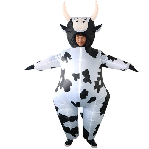 Adults Cow Inflatable Costume Props Blow Up Inflatable Fancy Dress