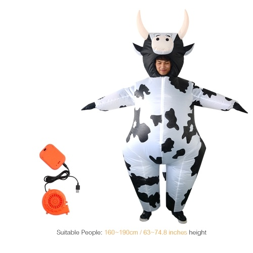 Adults Cow Inflatable Costume Props Blow Up Inflatable Fancy Dress фото