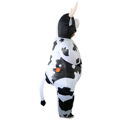 TOMTOP / Adults Cow Inflatable Costume Props Blow Up Inflatable Fancy Dress