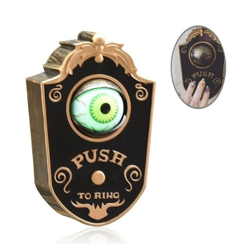 Animated Doorbell Eyeball Halloween Decorations