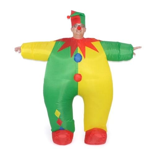 Adultos divertido traje de payaso inflable Prop Blow Up Inflable vestido de lujo