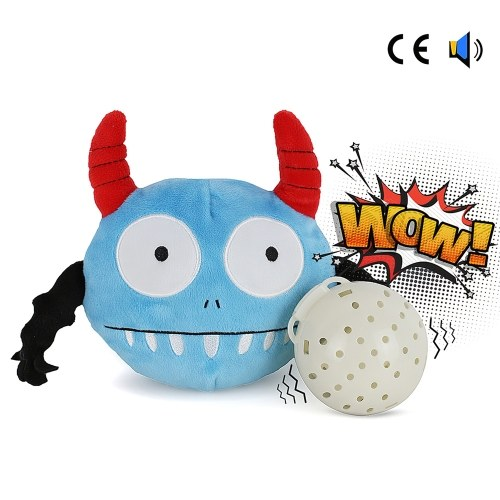 Dog Interactive Toy Plush Giggle Ball Shake Squeak Crazy Bouncer Ball for Exercise Entertainment