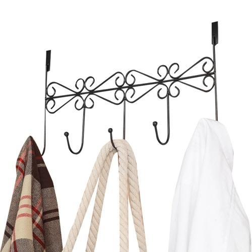 Über Tür Kleiderbügel Rack 5 Haken Dekorative Ognazier Haken Rack Stilvolle Retro Über Tür Kleiderbügel für Home Office verwenden