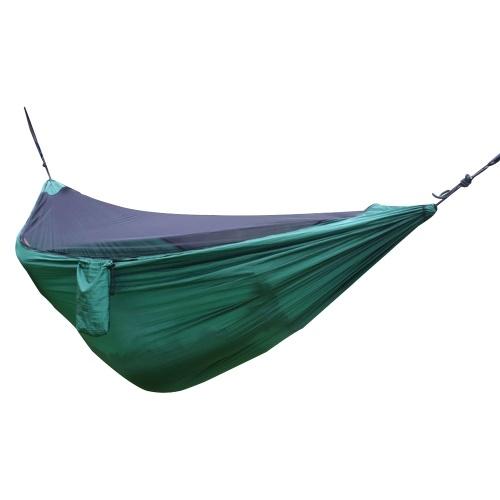 Hamaca para acampar con malla Red liviana Hamaca de nylon portátil Hamaca multifuncional