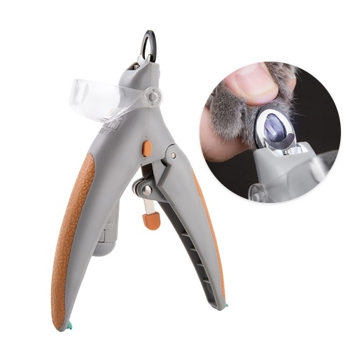 Illuminated Cat Pet Nail Clippers Cat Claw Trimmer Cat Nail Scissor Cat Nail Cutter Features LED Light 5X Magnification