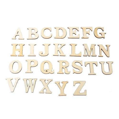 JM01484 ZAKKA De Madeira Artesanato Proteção Ambiental DIY Letras Decoração