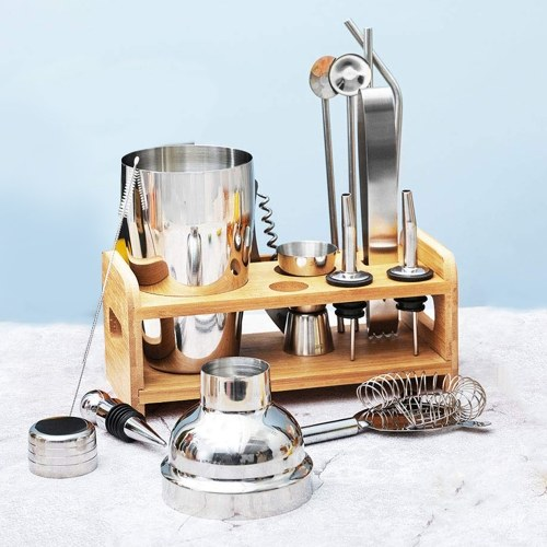 Bar Cocktail Set Boston Shaker Drink Making Kit Stainless Mixer Making Gift