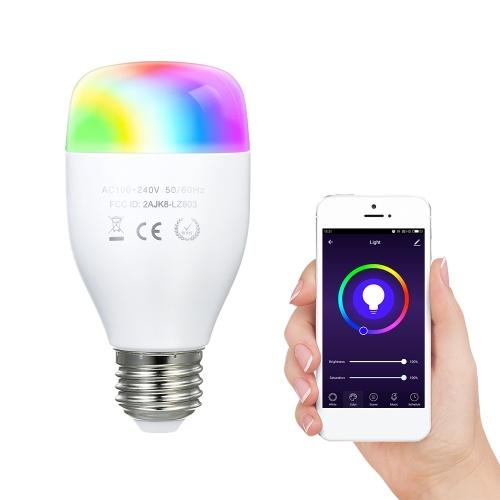 AC100-240V E27 7W Wi-Fi Интеллектуальная лампочка Голосовое управление APP Управление Функция синхронизации Музыка Лампа