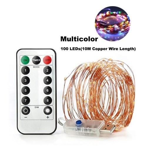 50個のLEDフェアリーストリングが5M / 16.4ft USB銅線ランプを点灯