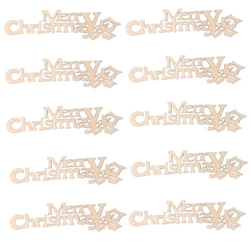 Natural Wooden Christmas Pattern Craft Accessories