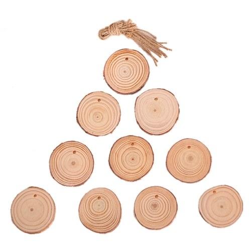 Neue Weihnachtsdekoration aus Holz Brief Anhänger Weihnachtsschmuck