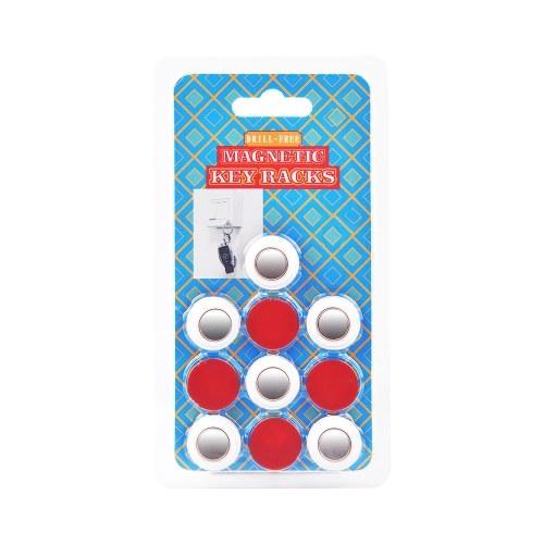 Racks de llaves magnéticas Soporte para llaves sin taladrar Paquete de 6 de fácil instalación