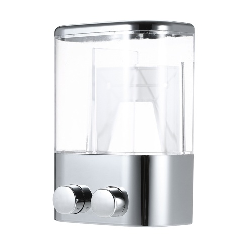 Soap Dispensers Wall Mounted Soap Dispenser Large Capacity 2 Chambers Avoid Leak